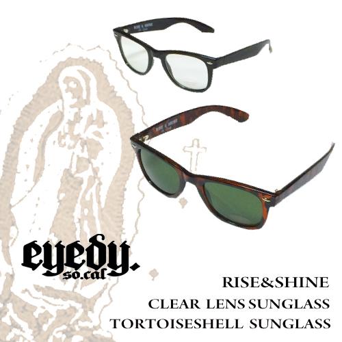 ポルタアンドゲートPORTAANDGATEアイディー【EYEDY 】RISE&SHINE CLEAR LENS/TORTOLSESHELL SUNGLASS(クリアサングラス/べっ甲/伊達眼鏡)