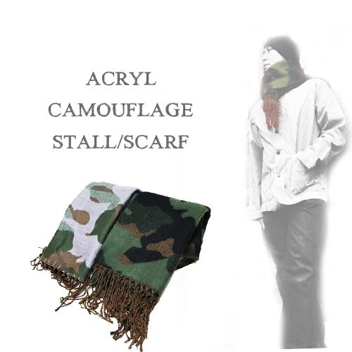 ポルタアンドゲートPORTAANDGATEACRYL CAMOUFLAGE STALL/SCARF(アクリルカモフラージュストール/スカーフ/マフラー/迷彩)05