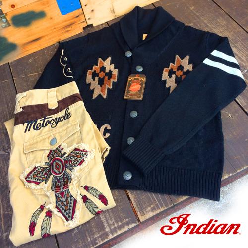 indianmotocycle <br /> カーディガン&刺繍ワークパンツポルタアンドゲートPORTAANDGATE