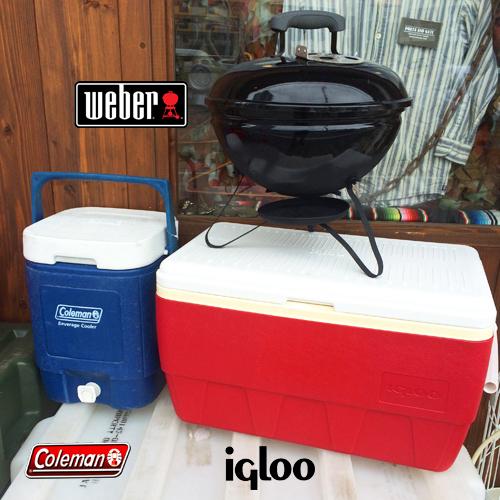 WEBER BBQグリル、COLEMANウォーターサーバー、Iglooクーラーボックス、ポルタアンドゲートPORTAANDGATE