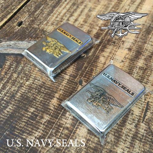 ポルタアンドゲートPORTAANDGATEジッポー【ZIPPO】2014 U.S.NAVY SEALS SILVER GOLD OIL LIGHTER(2014年製アメリカ海軍シールズレギュラーツヤ無しゴールド/ライター)限定品