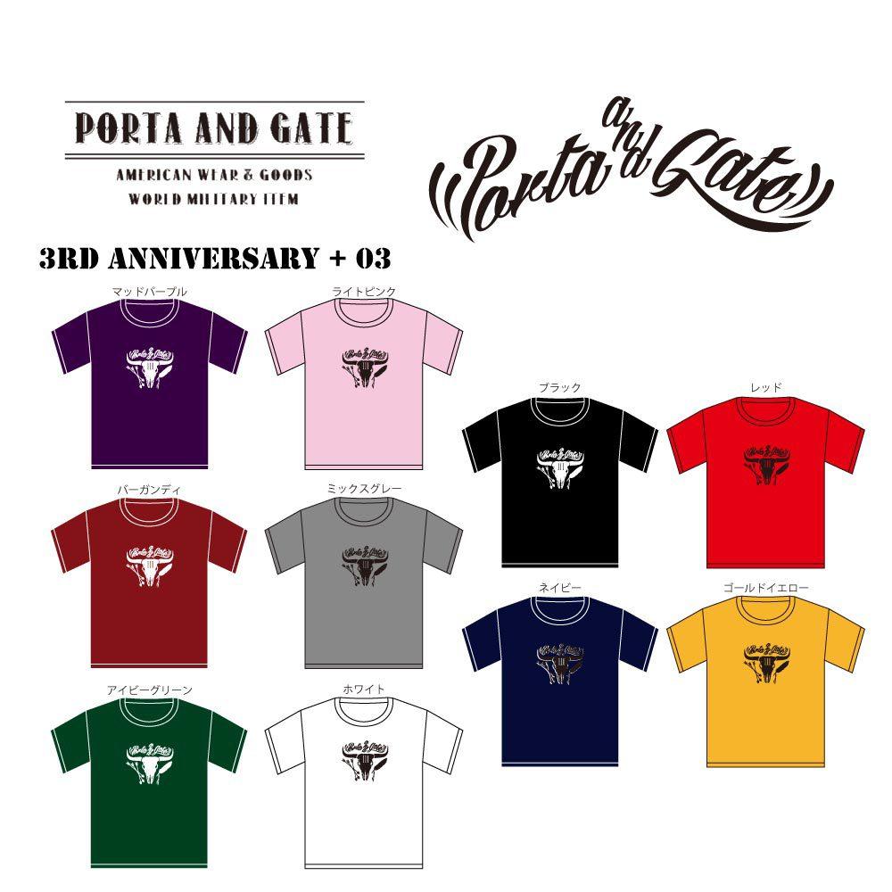 ポルタアンドゲート【PORTA AND GATE 】3RD ANNIVERSARY KID'S S/ST-SHIRTS(3周年記念子供用/赤ちゃん/キッズTシャツ)03