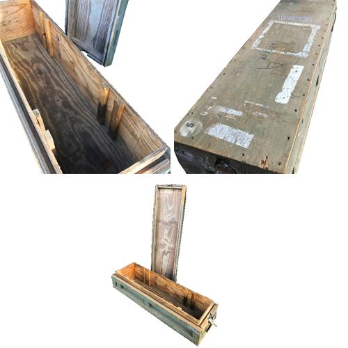 ポルタアンドゲートPORTAANDGATEUS M16 RIFLE WOOD BOX MFG BY ARBO BOX(アメリカ軍木製キャンリグボックス)【米軍放出品】全国送料無料、アメカジ、ミリカジ、ミリタリー、アメリカ軍、米軍放出品、サープラス、米軍払い下げ02