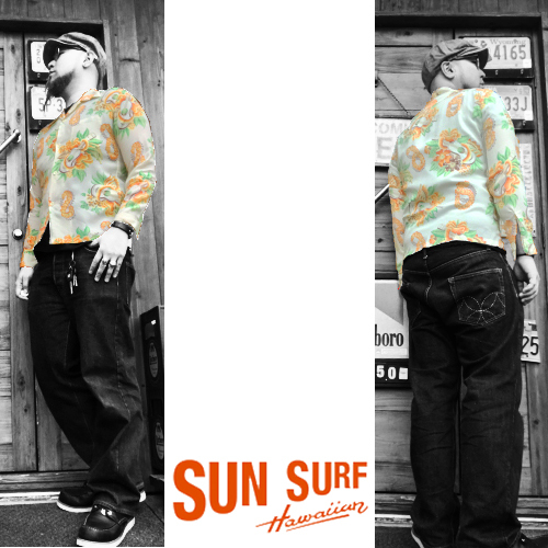 サンサーフ【SUNSURF】L/SRAYON ALOHA SHIRT MACINTOSH UKULELE(レーヨン長袖アロハシャツ/マッキントッシュウクレレ)送料無料04