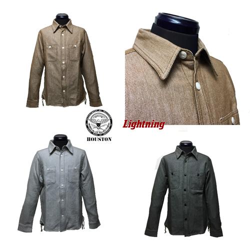 ポルタアンドゲートPORTAANDGATEヒューストン45周年記念限定/HOUSTON/ライトニング/Lightning/VIYELLA WORK L/S SHIRT(ビンテージヴィエラ長袖ワークシャツ)02