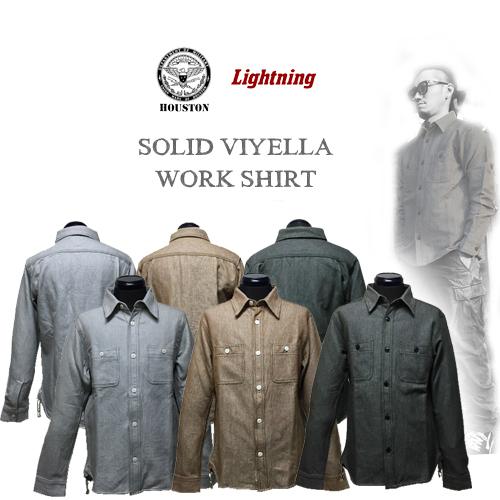 ポルタアンドゲートPORTAANDGATEヒューストン45周年記念限定/HOUSTON/ライトニング/Lightning/VIYELLA WORK L/S SHIRT(ビンテージヴィエラ長袖ワークシャツ)01