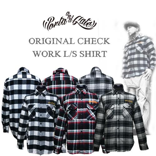 ポルタアンドゲート【PORTAANDGATE】ORIGINAL CHECK L/S WORK SHIRTS(オリジナルチェック長袖ワークシャツ)01