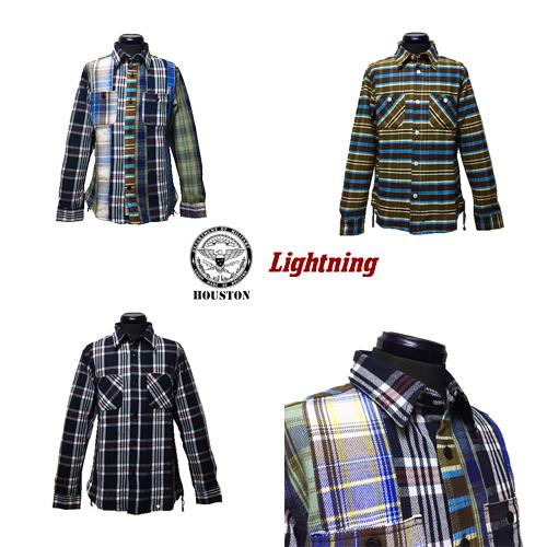ポルタアンドゲートPORTAANDGATEヒューストン45周年記念限定/HOUSTON/ライトニング/Lightning/VIYELLA CHECK WORK L/S SHIRT(ビンテージヴィエラチェック長袖ワークシャツ)02