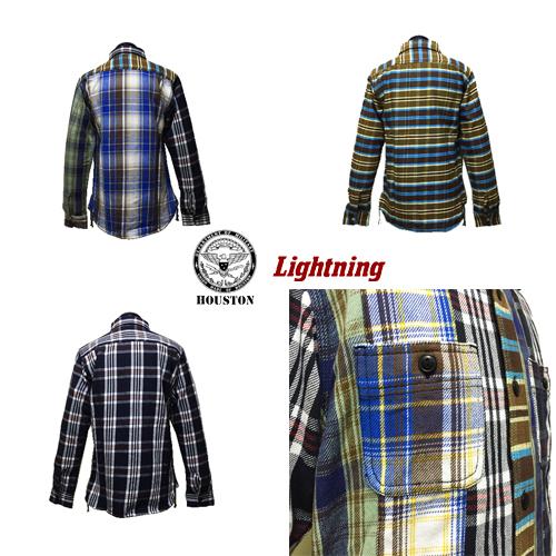 ポルタアンドゲートPORTAANDGATEヒューストン45周年記念限定/HOUSTON/ライトニング/Lightning/VIYELLA CHECK WORK L/S SHIRT(ビンテージヴィエラチェック長袖ワークシャツ)03