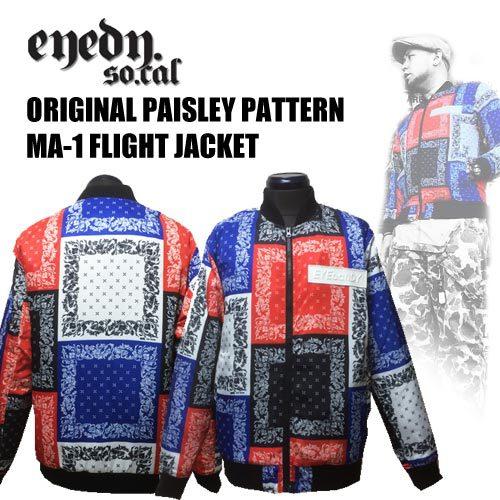 アイディー【EYEDY 】ORIGINAL PAISLEY PATTERN MA-1 FLIGHT JACKET(オリジナルペイズリー柄MA-1フライトジャケット/ワークジャケット)送料無料01