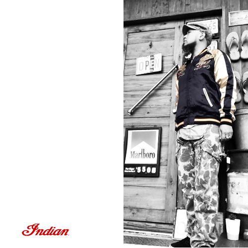ポルタアンドゲートPORTAANDGATEインディアンモトサイクル【INDIANMOTOCYCLE 】RAYONSATIN REVERSIBLE SUKA JACKET/SUKAJAN(スカジャン/ベトジャン/オルテガ/ネイティブ)送料無料05