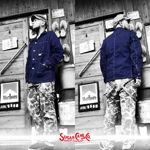 ポルタアンドゲートPORTAANDGATEシュガーケン【SUGER CANE】11oz BULE DENIM WORK COAT(ブルーデニムワークコート/ジャケット)送料無料01