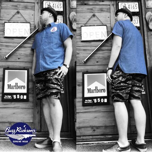 ポルタアンドゲートPORTAANDGATEバズリクソンズ【BUZZRICKSONS】SNOOPY PEANUTS BULE CHAMBRAY EMBROIDERY WORK S/S SHIRT(スヌーピーシャンブレー刺繍半袖シャツ)送料無料04