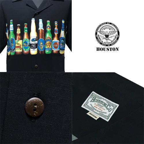 ポルタアンドゲートPORTAANDGATE、ヒューストン【HOUSTON】BEER BLACK ALOHA S/S SHIRT(ビールヴィンテージデザインレーヨンアロハ半袖シャツ)送料無料、東洋エンタープライズ、サンサーフ、sunsurf03