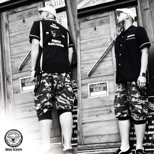 ポルタアンドゲートPORTAANDGATEヒューストン/HOUSTON/PANTHER SHORT SELEEVE BOWLING SHIRT(パンサーデザイン刺繍ボーリングシャツ)送料無料01