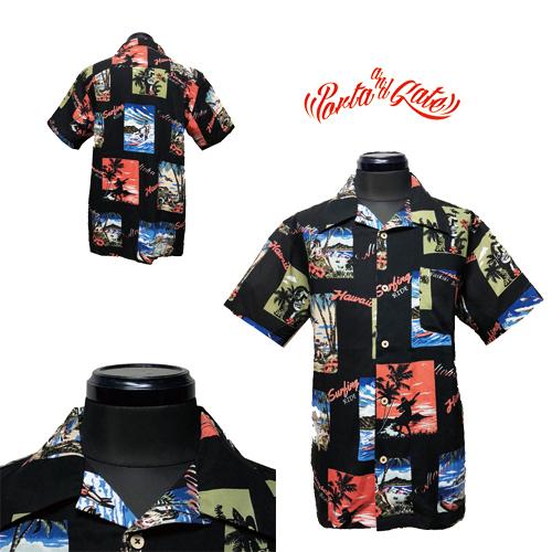 ポルタアンドゲート/PORTAANDGATE/HAWAIIAN PHOTO ORIGINAL RAYON S/S ALOHA SHIRT(オリジナルレーヨンアロハシャツ)OKINAWA/送料無料、アメカジ、ミリカジ、ミリタリー、ハワイアン、HAWAII、OKINAWA、02