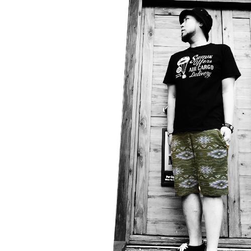 ポルタアンドゲートPORTAANDGATEトラップ【TRAP/U】ヒューストン【HOUSTON】JAQUARD PILE SHOTR PANTS(ジャガード/パイル地製ショートパンツ/ショーツ)3