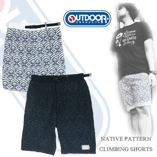 アウトドア【OUTDOOR】NATIVE PATTERN CLIMBING SHOTR PANTS(ネイティブ柄クライミングショートパンツ/ショーツ)