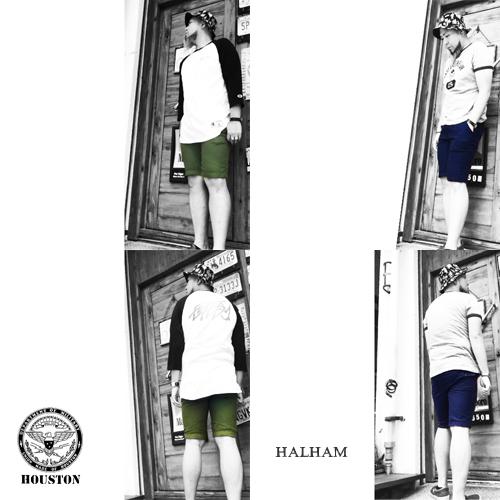 ポルタアンドゲートPORTAANDGATEハルハム【HALHAM】ヒューストン【HOUSTON】RECYCLR YARN NAVY/ OLIVE DRAB SHOTR PANTS(ネイビー/オリーブドラブショートパンツ/ショーツ/リサイクル)04