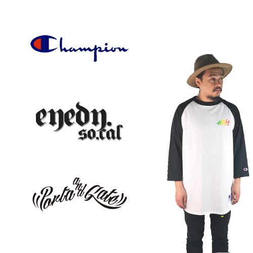 ポルタアンドゲート【EYEDY】×【CHAMPION】限定7分袖Tシャツ04