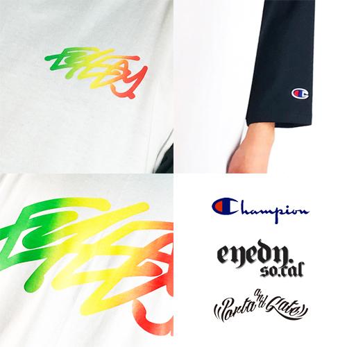 ポルタアンドゲート【EYEDY】×【CHAMPION】限定7分袖Tシャツ03