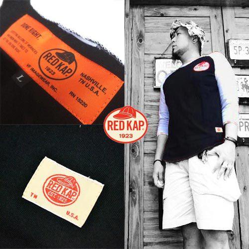 ポルタアンドゲートPORTAANDGATEレッドキャップ【RED KAP 】REDKAP LOGO PRINT 3/4 SLEEVE T-SHIRTS(レッドキャップロゴプリント7分袖Tシャツ)2