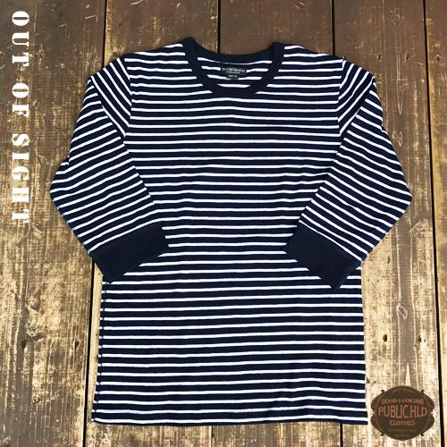 アウトオブサイト【OUTOFSIGHT】パブリックホリデー【PUBLIC.HLD】SPAN FRAISE 3/4 SLEEVE T-SHIRTS(スパンフライス生地7分袖Tシャツ)3色02
