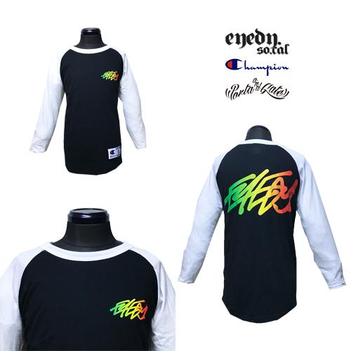 チャンピオン/CHAMPION/ポルタアンドゲート/PORTAANDGATE/RASTA LOGO BASEBALL T-SHIRT(ラグラン/ベースボールTシャツ)02