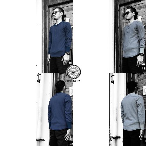 ポルタアンドゲートPORTAANDGATEヒューストン【HOUSTON】HEATHER RIB STITCH HENLYNECK L/S T-SHIRT(ヘザーリブスティッチヘンリーネック長袖Tシャツ)04