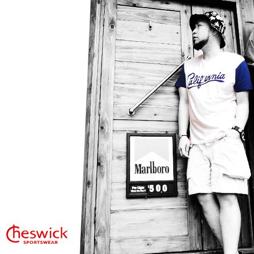 チェスウィック【CHESWICK】HENRY NECK EMBROIDERY S/S T-SHIRT CALIFORNIA (ヘンリーネック刺繍半袖Tシャツカリフォルニア)3ポルタアンドゲートPORTAANDGATE