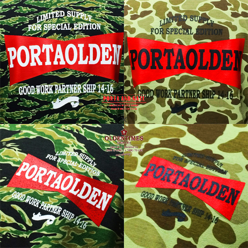 ポルタアンドゲート【PORTAANDGATE 】×【OLDENTIMESOKINAWA】COLLABORATE CAMOUFLAGE T-SHIRTS(限定コラボ迷彩Tシャツ)2