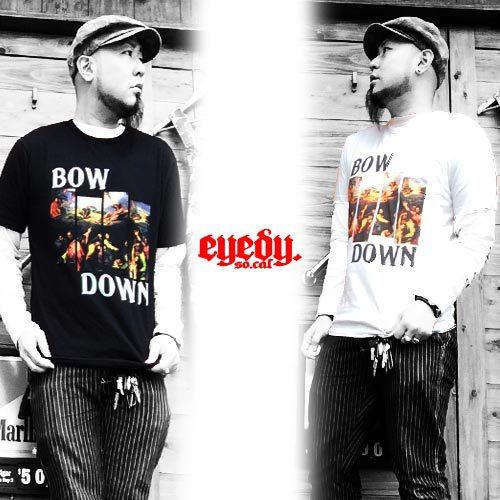 ポルタアンドゲートPORTAANDGATEアイディー 【EYEDY】BOW DOWN PRINT S/S T-SHIRTS (ボウダウンプリント半袖Tシャツ)