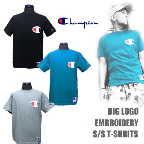 チャンピオン【CHAMPION 】BIG LOGO EMBROIDERY S/S T-SHIRTS 3COLOR(ビッグロゴ刺繍半袖Tシャツ/3カラー)