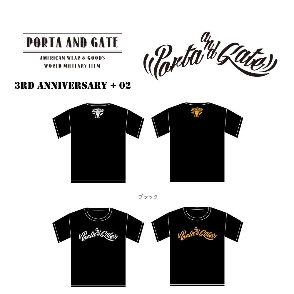 ポルタアンドゲート【PORTA AND GATE】3RD ANNIVERSARY T-SHIRTS NO.2(3周年記念Tシャツ第二弾)2017年、06