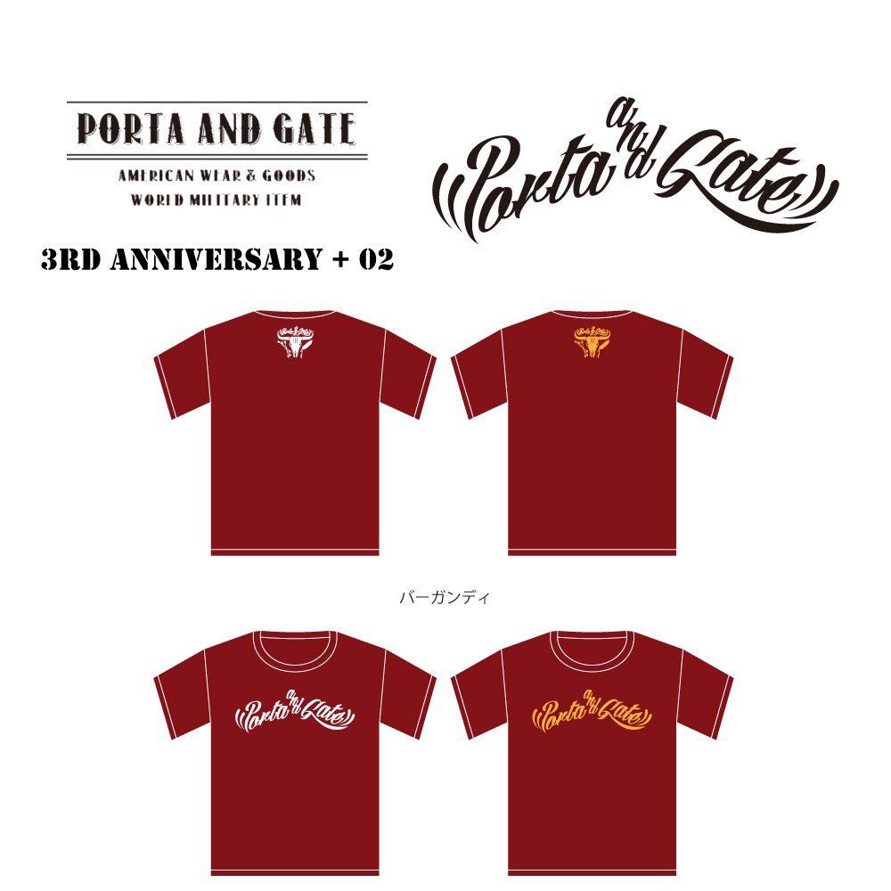 ポルタアンドゲート【PORTA AND GATE】3RD ANNIVERSARY T-SHIRTS NO.2(3周年記念Tシャツ第二弾)2017年、07