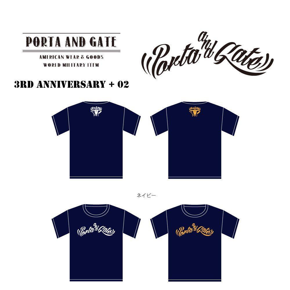 ポルタアンドゲート【PORTA AND GATE】3RD ANNIVERSARY T-SHIRTS NO.2(3周年記念Tシャツ第二弾)2017年、08