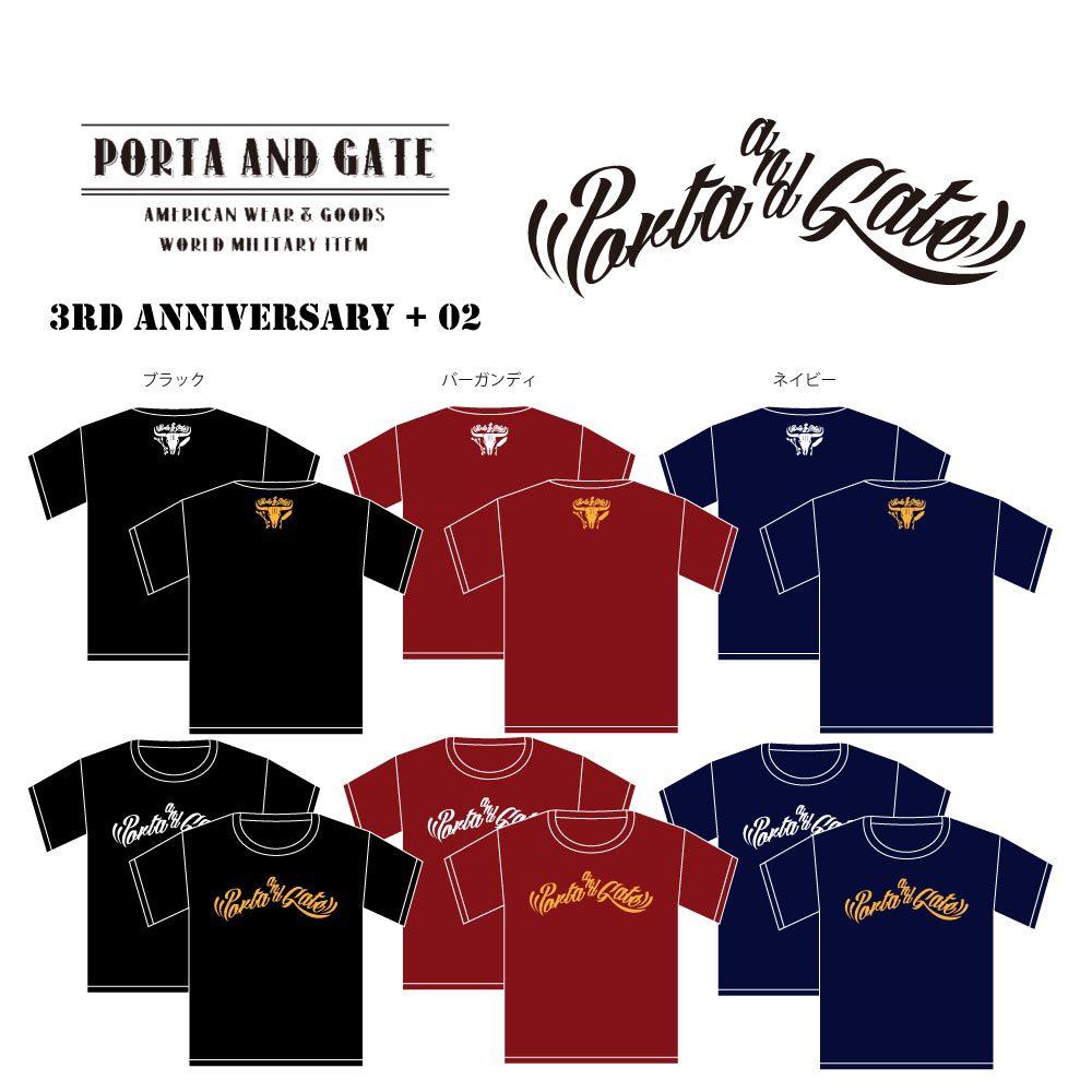 ポルタアンドゲート【PORTA AND GATE】3RD ANNIVERSARY T-SHIRTS NO.2(3周年記念Tシャツ第二弾)2017年、05