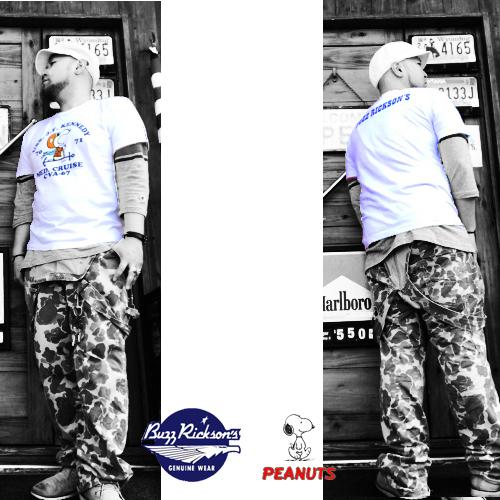 バズリクソンズ【BAZZRICKSONS 】PEANUTS SNOOPY MED.CRISE CVA-67 S/S T-SHIRTS (ピーナッツミッドクルーズ半袖Tシャツ)04