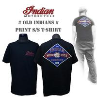 インディアンモーターサイクル【INDIAN MOTORCYCLE 】 ×  ビンテージ加工フルカラープリントTシャツ