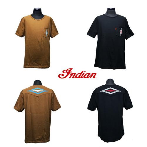 インディアンモトサイクル【INDIAN MOTOCYCLE 】NAITIVE EMBROIDERY POCKET S/S T-SHIRT(チマヨ柄/ネイティブ柄刺繍ポケットTシャツ)02