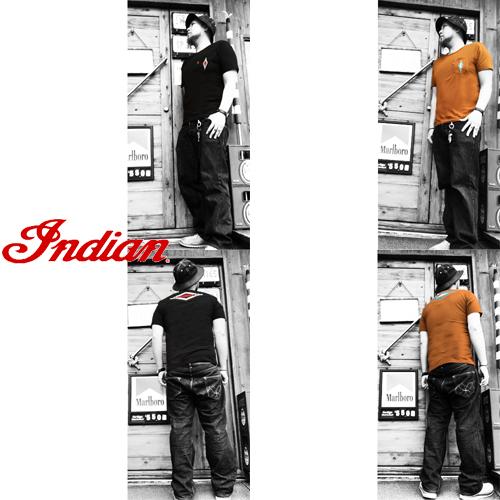 インディアンモトサイクル【INDIAN MOTOCYCLE 】NAITIVE EMBROIDERY POCKET S/S T-SHIRT(チマヨ柄/ネイティブ柄刺繍ポケットTシャツ)04