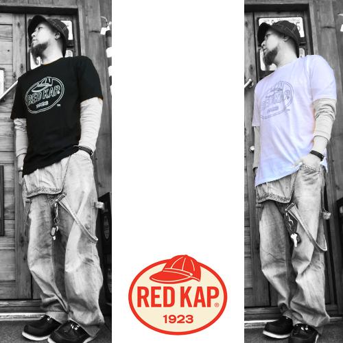 ポルタアンドゲートPORTAANDGATEレッドキャップ【RED KAP 】2COLOR BIG LOGO PRINT S/S T-SHIRT(ビッグロゴ半袖プリントTシャツ/ワークシャツ/2色展開)04
