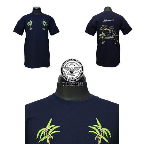 ポルタアンドゲートPORTAANDGATEヒューストン【HOUSTON】HAWAII DESIGN EMBROIDERY S/S T-SHIRT(ハワイアンデザイン刺繍半袖Tシャツ)送料無料02
