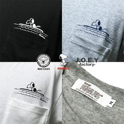 ポルタアンドゲートPORTAANDGATEヒューストン/HOUSTON/ピーナッツスヌーピー/PEANUTSSNOOPY/ジョーイファクトリー/JOEYFACTORY/POCKET S/S T-SHIRT(スヌーピーポケット半袖Tシャツ)03
