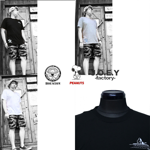ポルタアンドゲートPORTAANDGATEヒューストン/HOUSTON/ピーナッツスヌーピー/PEANUTSSNOOPY/ジョーイファクトリー/JOEYFACTORY/POCKET S/S T-SHIRT(スヌーピーポケット半袖Tシャツ)04