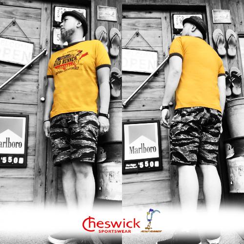 ワーナーブラザーズ、ポルタアンドゲートPORTAANDGATEチェスウィック【CHESWICK】ROADRUNNER PORTLAND FOOTBALLRINGER S/S T-SHIRT(ロードランナーリンガー半袖Tシャツ)04