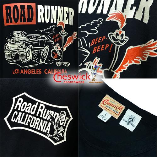 ワーナーブラザーズ、ポルタアンドゲートPORTAANDGATEチェスウィック【CHESWICK】ROADRUNNER L.A.CALIFORNIA S/S T-SHIRT(ロードランナーロスアンゼルスカリフォルニア半袖Tシャツ)03