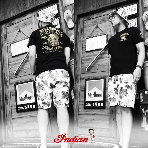 ポルタアンドゲートPORTAANDGATEインディアンモトサイクル【INDIAN MOTOCYCLE 】BETTYBOOP EMBROIDERY S/S T-SHIRT02(ベティーブープコラボ刺繍半袖Tシャツ)送料無料02-04