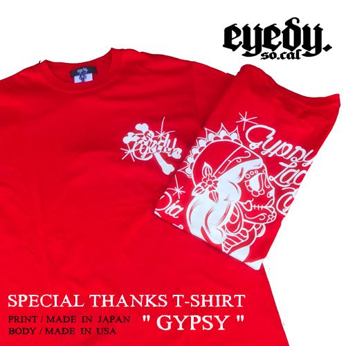 アイディー【EYEDY】GYPSY PRINT S/S T-SHIRT/SPECIALSALEPRICE(ジプシー半袖Tシャツ/格安Tシャツ/マリア/ルード/)01