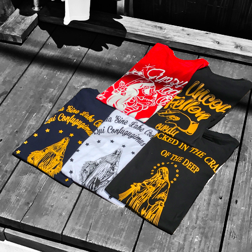 ポルタアンドゲートPORTAANDGATEアイディー【EYEDY】MEDAILLEMARIA-2 PRINT S/S T-SHIRT/SPECIALSALEPRICE(メダイマリア半袖Tシャツ/格安Tシャツ/マリア/ルード/)04